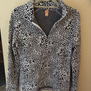 Lucy, leopard print 1/4 zip pullover